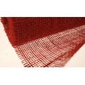Tkanina jutowa - 50 cm x 5 m   Kolor czerwony