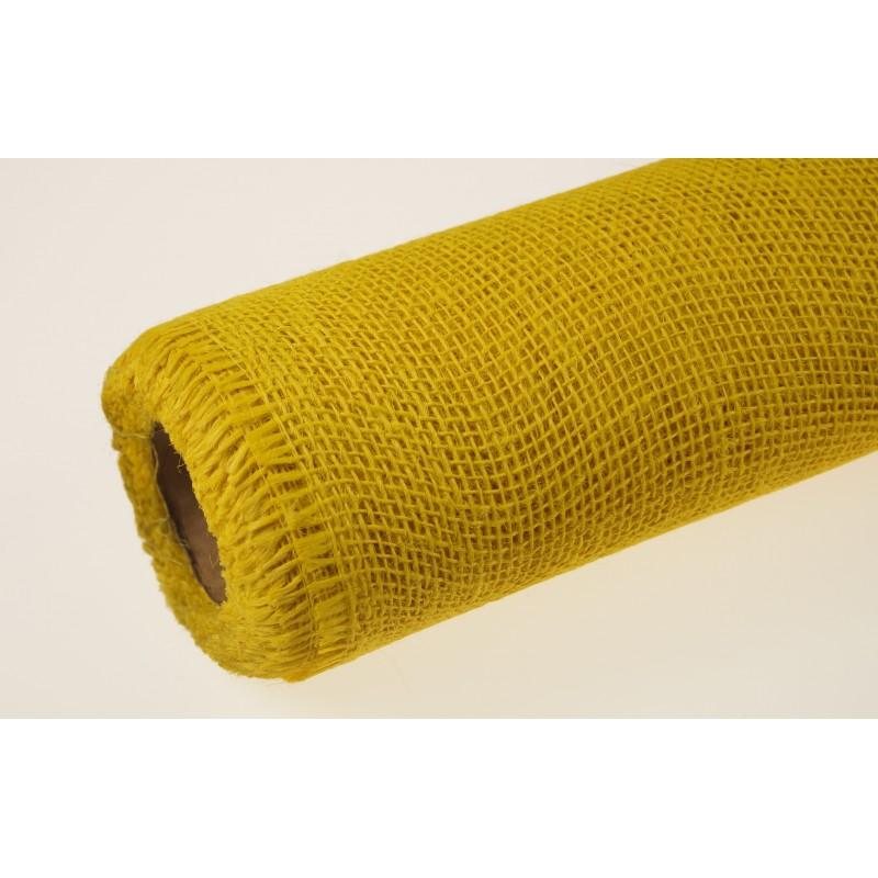 Tkanina jutowa - 80 cm x 5 m | Kolor żółty