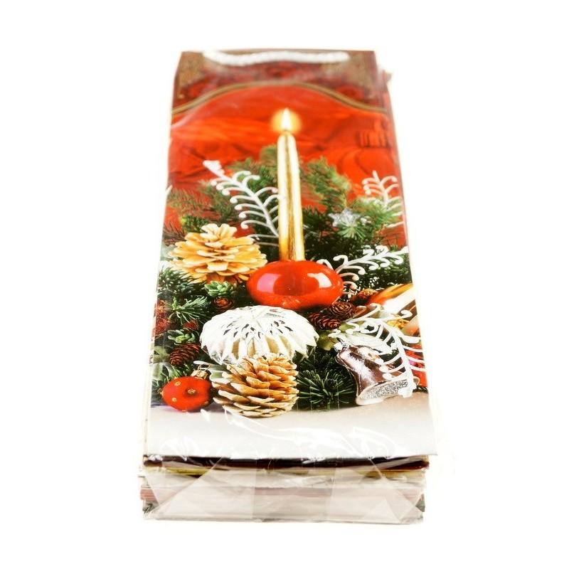 Torebki dekoracyjne świąteczne - TAL2 opakowanie mix 10szt