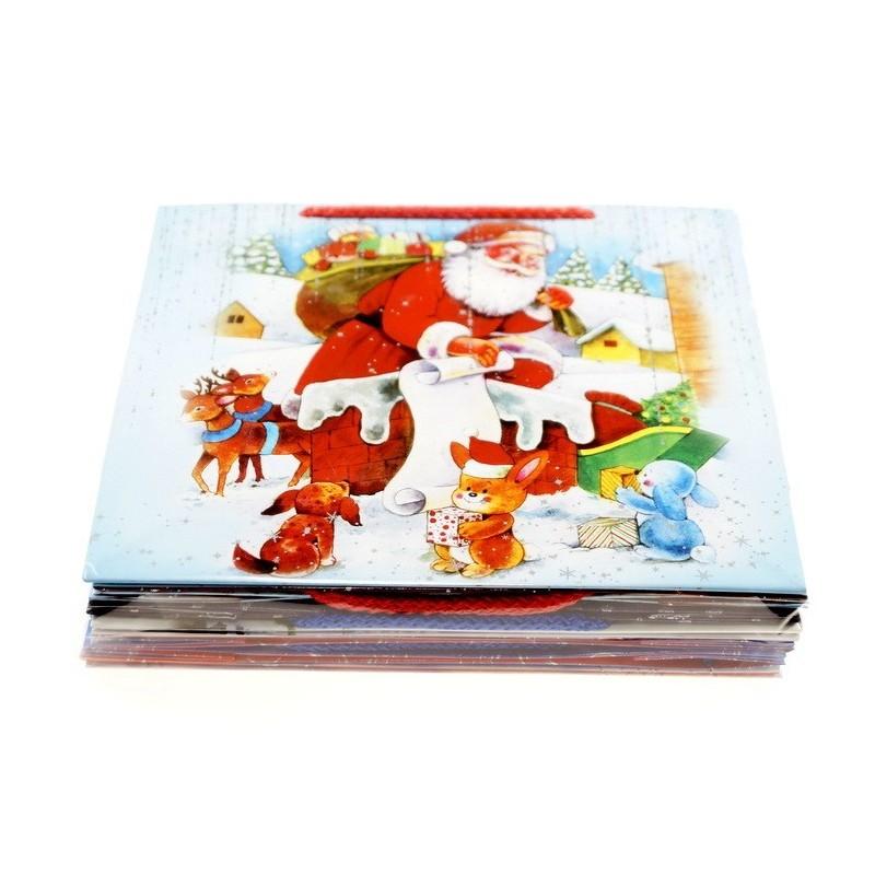 Torebki dekoracyjne świąteczne - T3L opakowanie mix 10szt