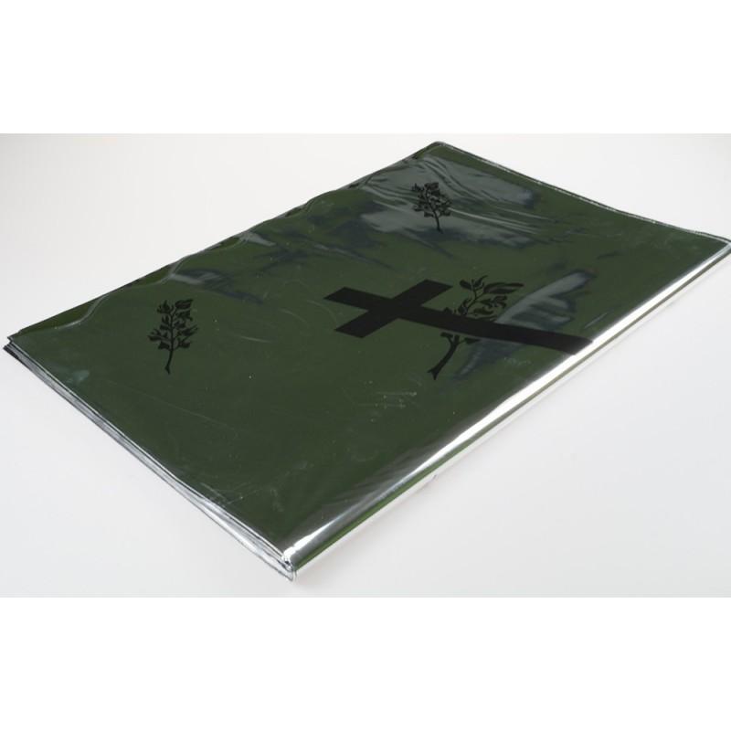 Rękaw foliowy metalizowany pogrzebowy - 60 cm x 80 cm - 50 szt