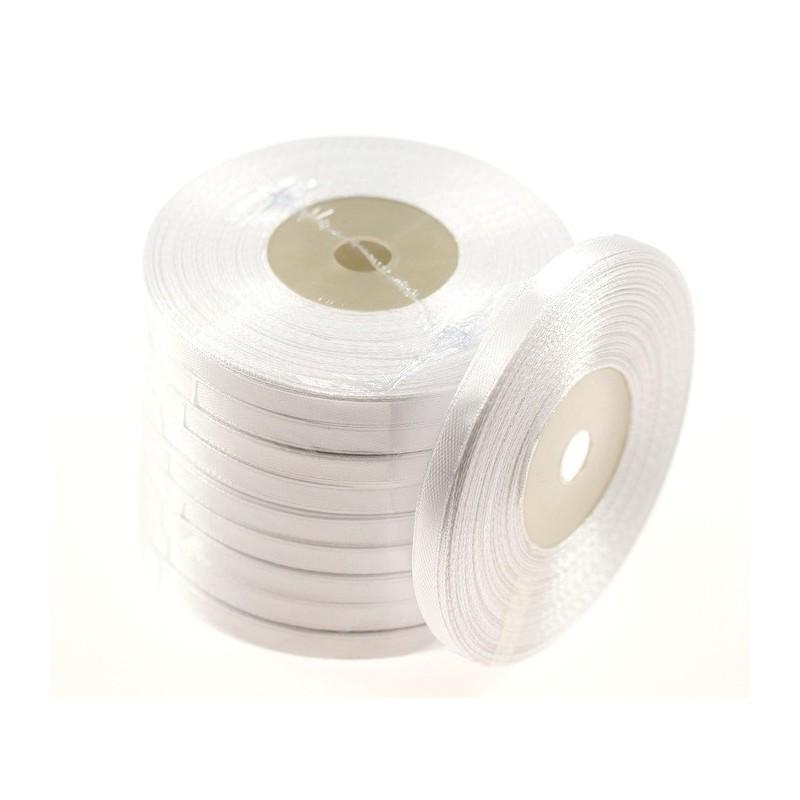 Wstążka satynowa 6mm x 32m | Biały