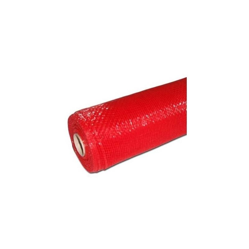 Siatka plastikowa 50 cm x 10y - Czerwony gold