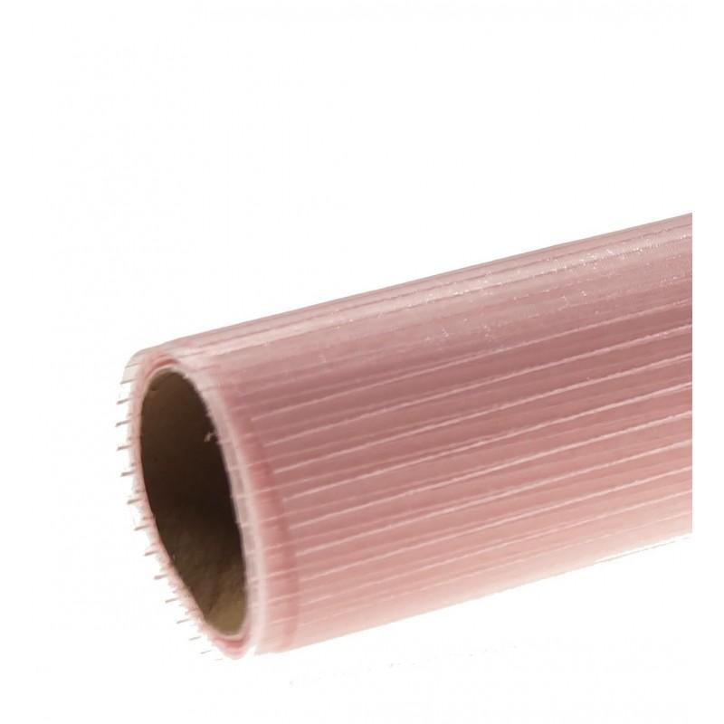 Organza w prążki 36 cm x 4,5 m | Kolor różowy jasny
