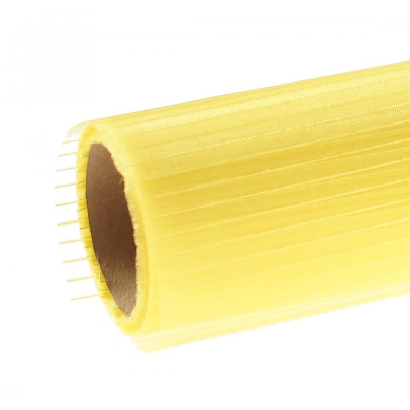 Organza w prążki 36 cm x 4,5 m   Kolor żółty