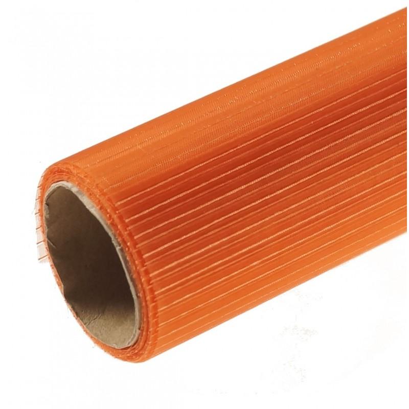 Organza w prążki 36 cm x 4,5 m   Kolor pomarańczowy