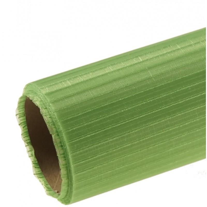 Organza w prążki 36 cm x 4,5 m   Kolor zielony