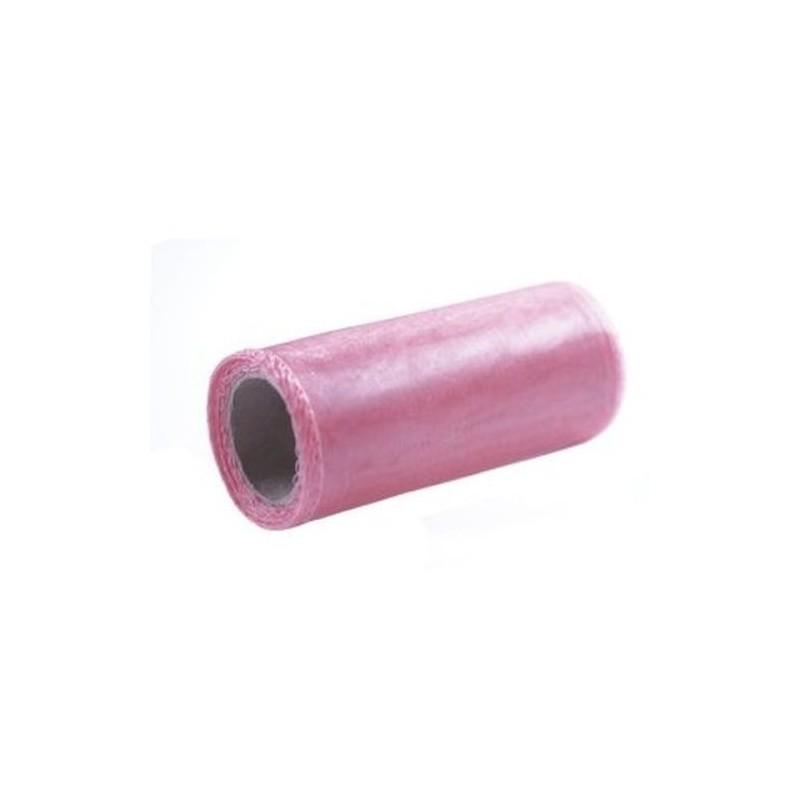 Organza 12 cm x 9 m |różowy matowy