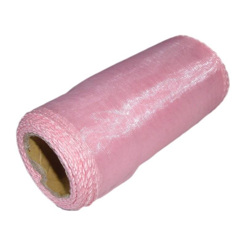 Organza 12 cm x 9 m | 5019 - Różowy matowy