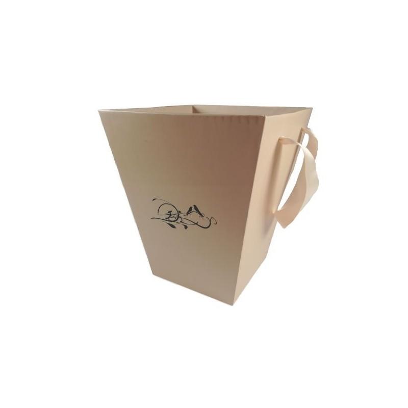 Papierowa donica- FlowerBox beżowy