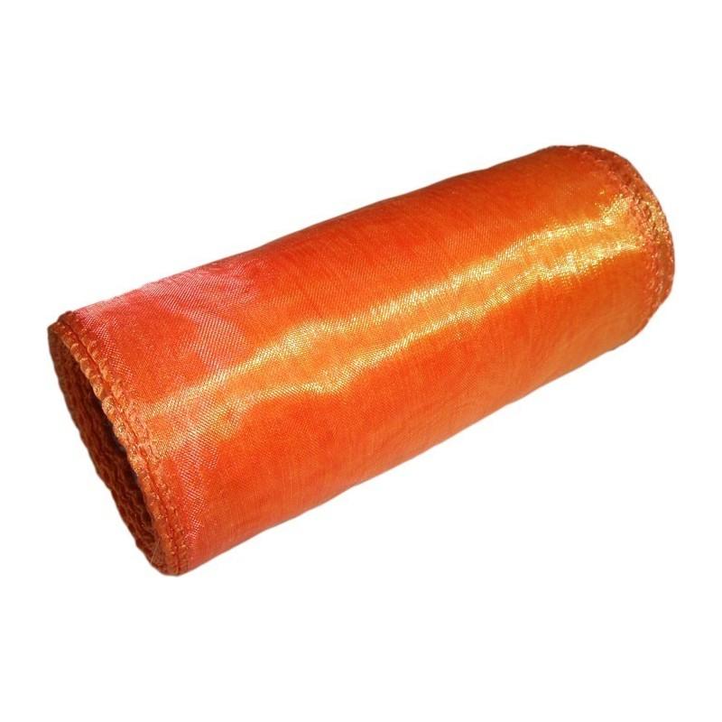 Organza 12 cm x 9 m | 5038 - Pomarańczowo-złoty