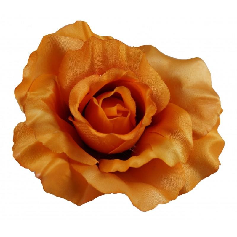 Pomarańczowa róża (ciemna) - kwiat wyrobowy 12 szt.