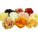 Różowo-zielona róża - kwiat wyrobowy 12 szt.