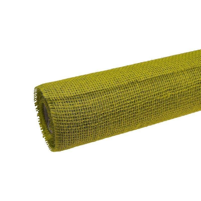 Tkanina jutowa - 80 cm x 5 m | Kolor zielony