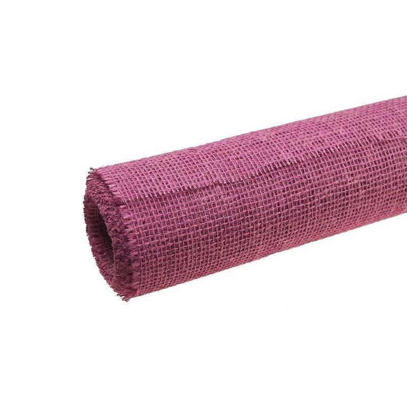 Tkanina jutowa - 80 cm x 5 m | Kolor różowy