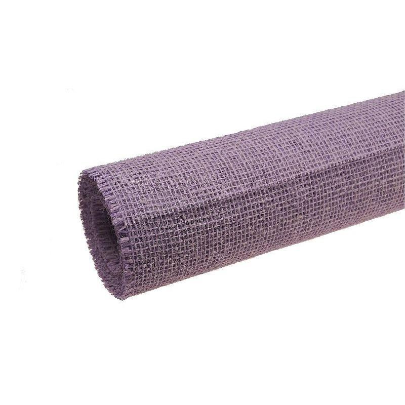 Tkanina jutowa - 80 cm x 5 m | Kolor lawendowy