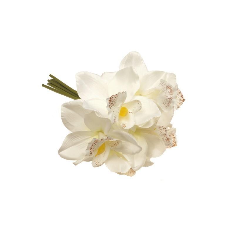 Mini bukiet ze storczyków - biały