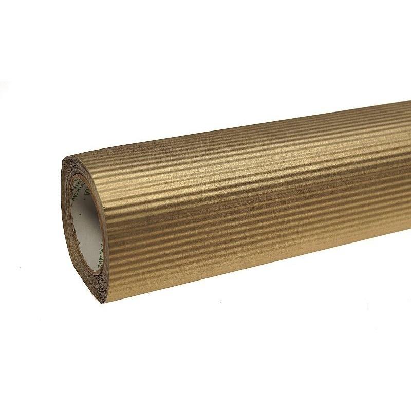 Papier karbowany - złoty
