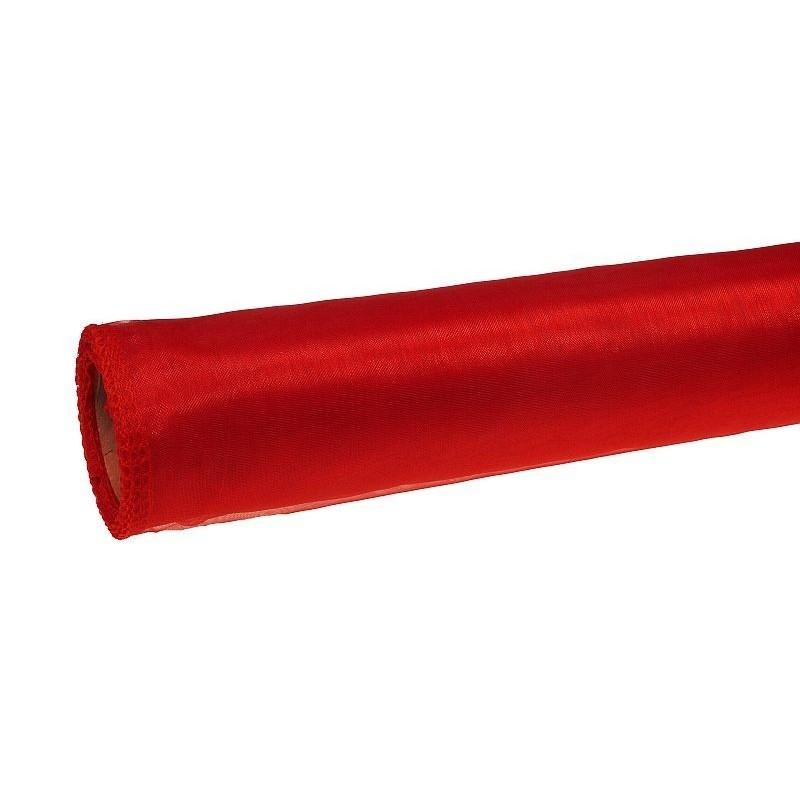 Organza 36 cm x 9 m   5139 - Czerwony