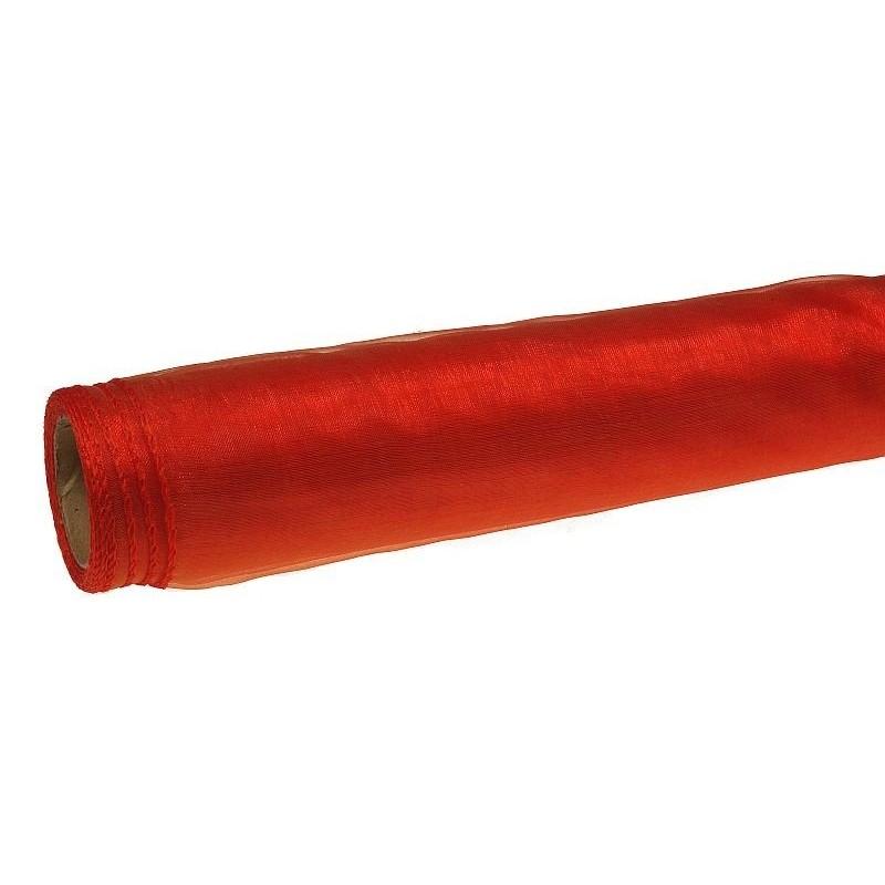 Organza 36 cm x 9 m   5039 - Czerwono-złoty