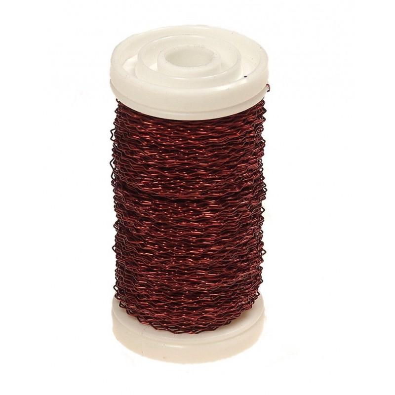 Drucik florystyczny karbowany - czerwony