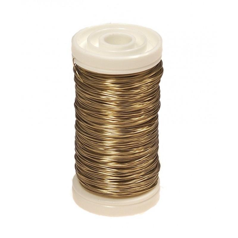 Drucik florystyczny gładki - złoty