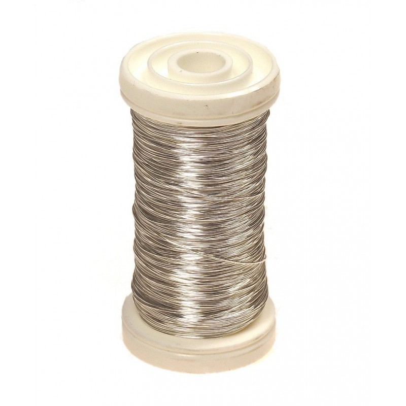 Drucik florystyczny gładki - srebrny