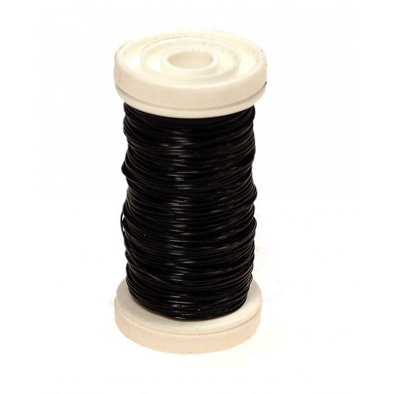 Drucik florystyczny gładki - czarny