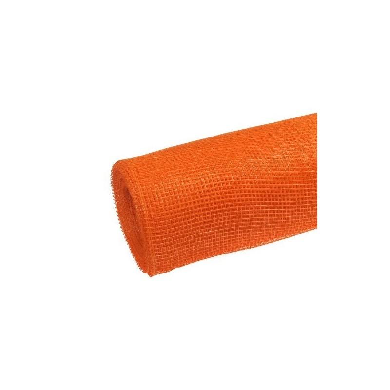 Siatka plastikowa 50 cm x 10y - 5054 Pomarańczowy