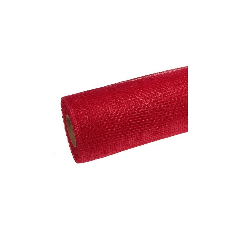 Siatka plastikowa 50 cm x 10y - 5039 Czerwony