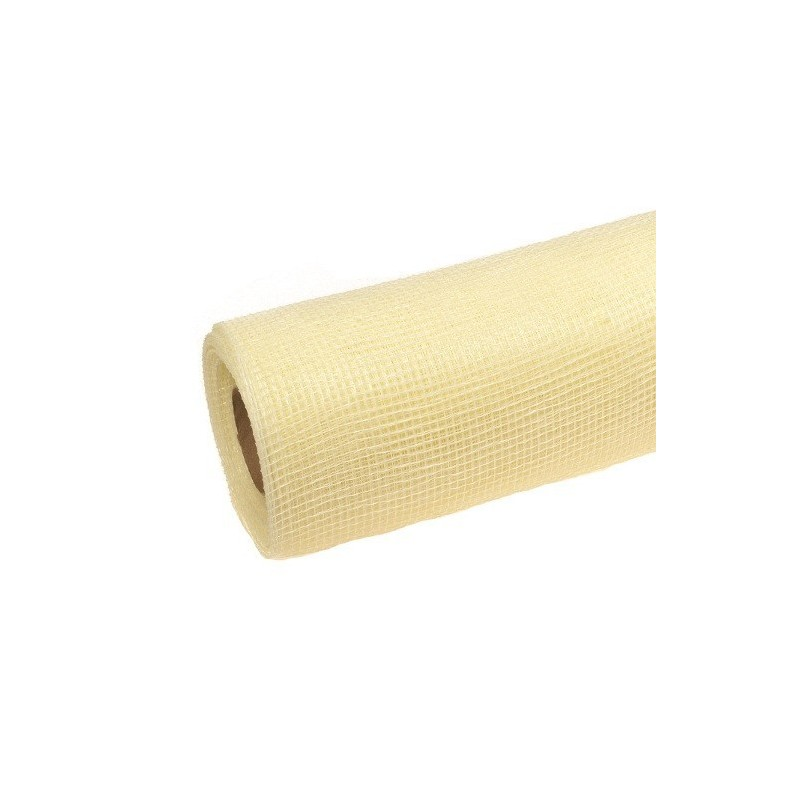 Siatka plastikowa 50 cm x 10y - 02 Ekri