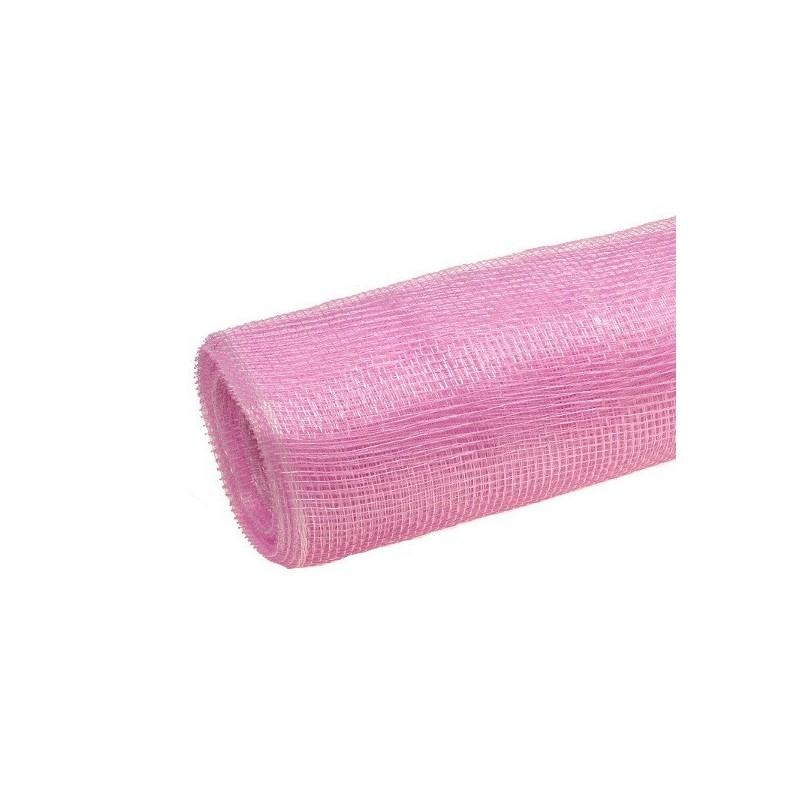 Siatka plastikowa 50 cm x 10y - 07 Różowy jasny