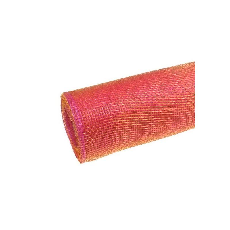 Siatka plastikowa 50 cm x 10y - 09 Różowy gold