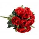 Róża z łodygą - czerwona (12 szt.)