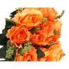Róża z łodygą - pomarańczowa (12 szt.)