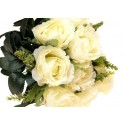 Róża z łodygą - kremowa (12 szt.)