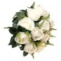 Róża z łodygą - biała (12 szt.)