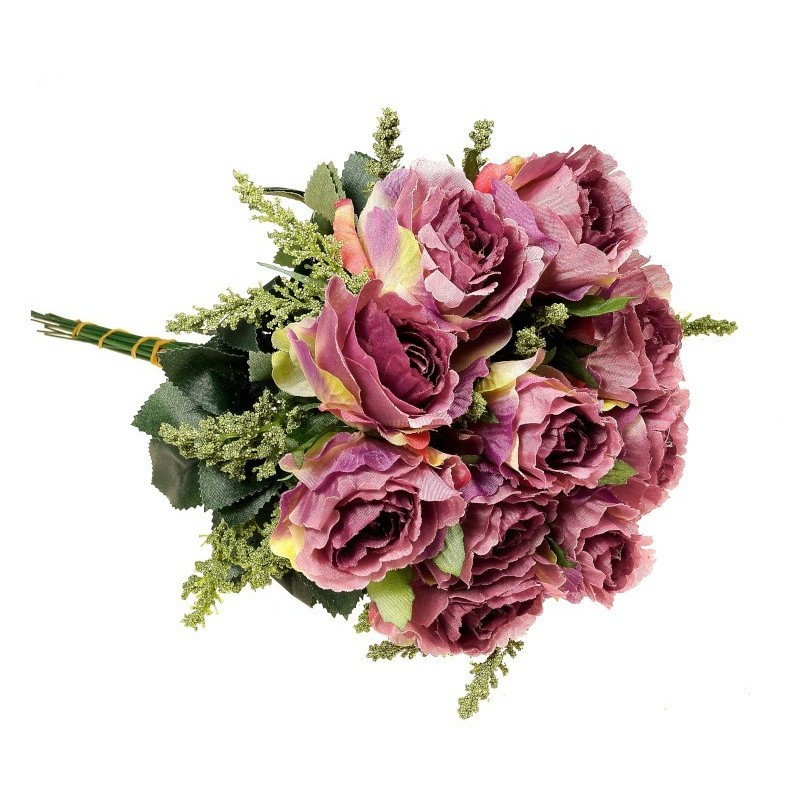 Róża z łodygą - fioletowa (12 szt.)