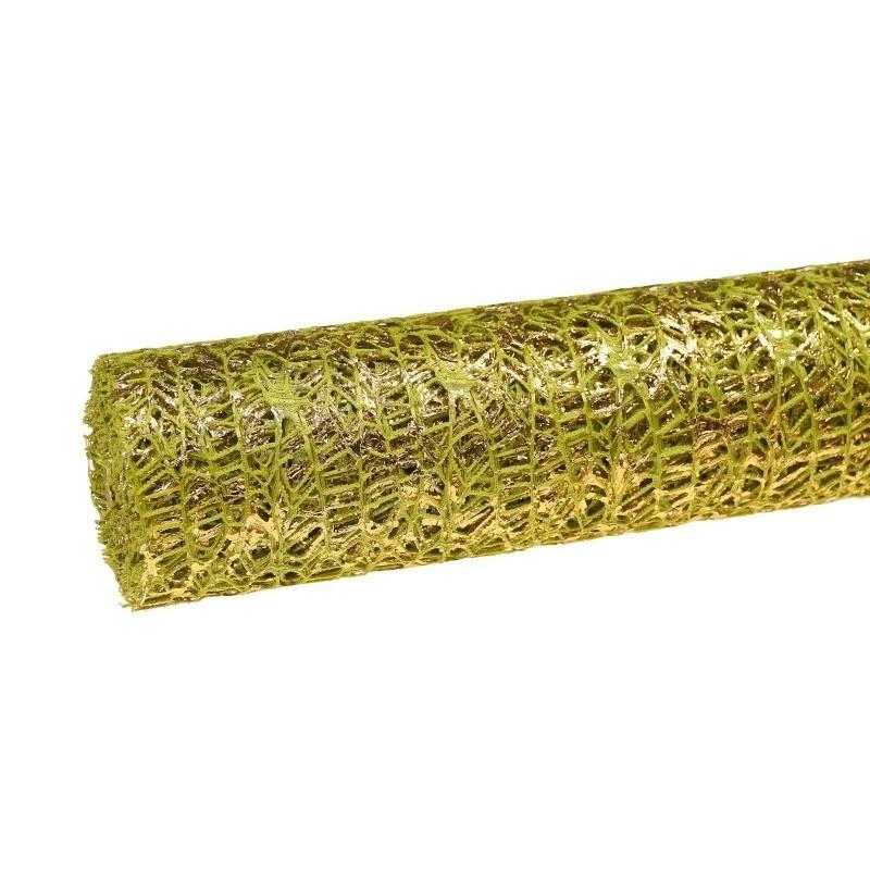 Siatka koronkowa z folią - zielona