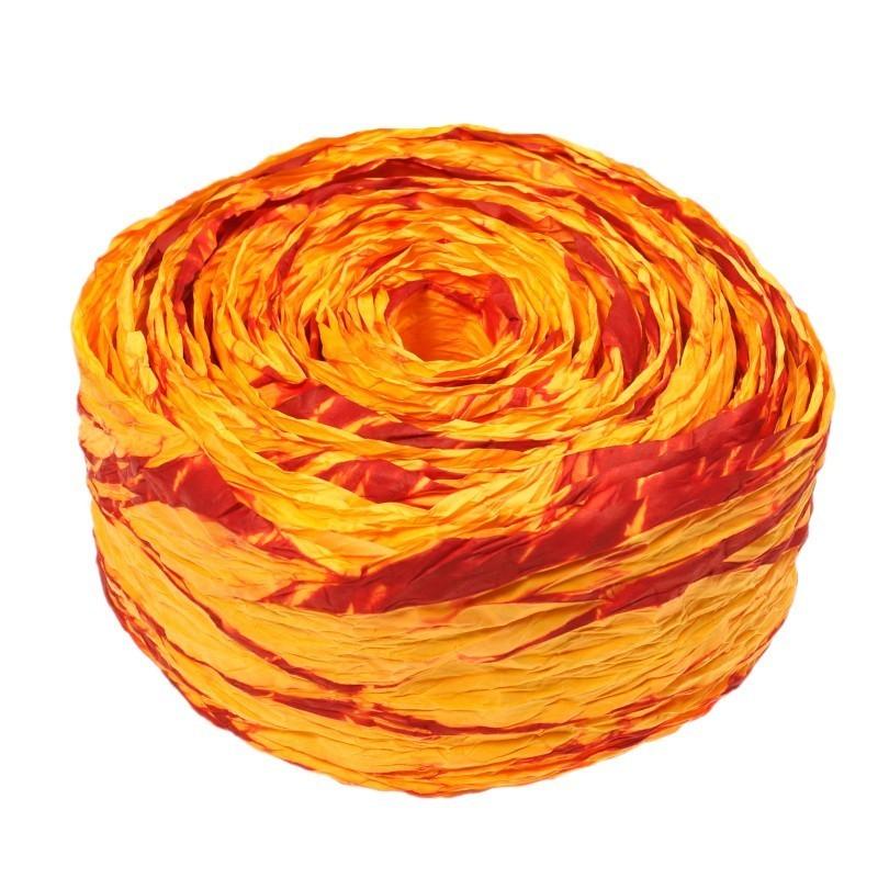 Krepina - wstążka pomarańczowy + czerwony