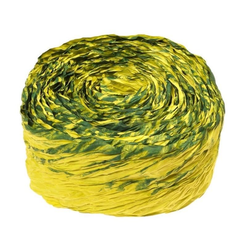 Krepina - wstążka zielony + zielony ciemny