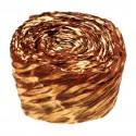 Krepina - wstążka brązowy + kremowy