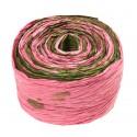 Krepina - wstążka różowy + zielony