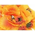 Hortensja żółto-czerwona - kwiat wyrobowy