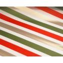 Folia satynowa w pasy - czerwono-zielono-złota