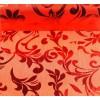 Organza świąteczna 10y x 12cm - czerwona