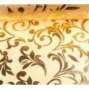 Organza świąteczna 10y x 12cm - złota