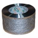 Flizelina wstążka - 4 cm x 10 m   Z21z - Srebrny
