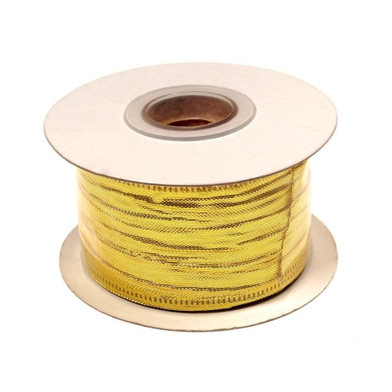 Wstążka 3,8 cm x 10 y - złota