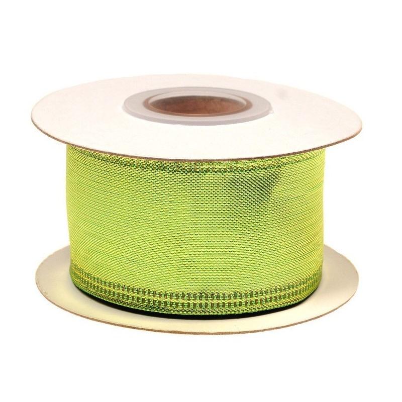 Wstążka metalizowana 3,8 cm x 10 y - zielona